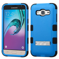 Military Grade Certified TUFF Hybrid Kickstand Case for Samsung Galaxy Amp Prime / Express Prime / J3 / Sol - Blue