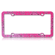 *Sale* License Plate Frame - Persian Paisley