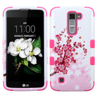 Military Grade Certified TUFF Image Hybrid Armor Case for LG K7 / Treasure LTE / Tribute 5 - Spring Flowers
