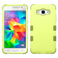 Military Grade Certified TUFF Hybrid Case for Samsung Galaxy Grand Prime - Green Tea Olive