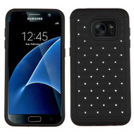 TotalDefense Diamond Hybrid Case for Samsung Galaxy S7 - Black