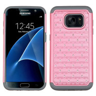 TotalDefense Diamond Hybrid Case for Samsung Galaxy S7 - Pearl Pink Grey