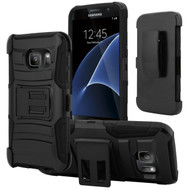 *SALE* Advanced Armor Hybrid Kickstand Case with Holster for Samsung Galaxy S7 - Black