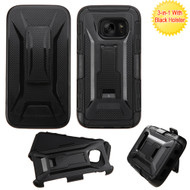 Tough Armor Hybrid Kickstand Case with Holster for Samsung Galaxy S7 - Black