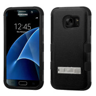 Military Grade Certified TUFF Hybrid Kickstand Case for Samsung Galaxy S7 - Black