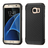Tough Anti-Shock Hybrid Case for Samsung Galaxy S7 Edge - Carbon Fiber