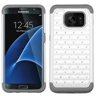 TotalDefense Diamond Hybrid Case for Samsung Galaxy S7 Edge - Pearl White Grey