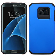 Hybrid Multi-Layer Armor Case for Samsung Galaxy S7 Edge - Blue