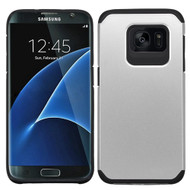 Hybrid Multi-Layer Armor Case for Samsung Galaxy S7 Edge - Silver