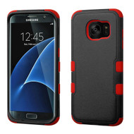 Military Grade TUFF Hybrid Case for Samsung Galaxy S7 Edge - Black Red