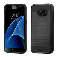 *Sale* Brushed Hybrid Armor Case for Samsung Galaxy S7 - Black