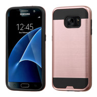 Brushed Hybrid Armor Case for Samsung Galaxy S7 - Rose Gold