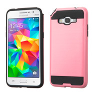 Brushed Hybrid Armor Case for Samsung Galaxy Grand Prime - Pink