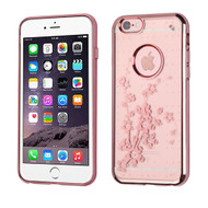 *SALE* SPOTS Electroplated Premium Candy Skin Cover for iPhone 6 Plus / 6S Plus - Spring Flowers Rose Gold