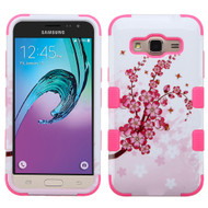 Military Grade TUFF Hybrid Armor Case for Samsung Galaxy Amp Prime / Express Prime / J3 / Sol - Spring Flowers