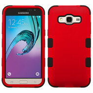 Military Grade Certified TUFF Hybrid Armor Case for Samsung Galaxy Amp Prime / Express Prime / J3 / Sol - Red