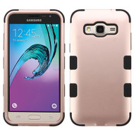 Military Grade TUFF Hybrid Armor Case for Samsung Galaxy Amp Prime / Express Prime / J3 / Sol - Rose Gold