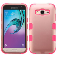 Military Grade TUFF Hybrid Armor Case for Samsung Galaxy Amp Prime / Express Prime / J3 / Sol - Rose Gold Pink