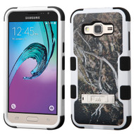 Military Grade Certified TUFF Image Hybrid Kickstand Case for Samsung Galaxy Amp Prime / Express Prime / J3 / Sol - Tree