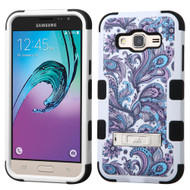 Military Grade Certified TUFF Hybrid Kickstand Case for Samsung Galaxy Amp Prime / Express Prime / J3 - Persian Paisley