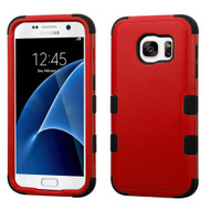 Military Grade Certified TUFF Hybrid Case for Samsung Galaxy S7 - Red
