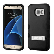 Military Grade Certified TUFF Hybrid Kickstand Case for Samsung Galaxy S7 Edge - Black
