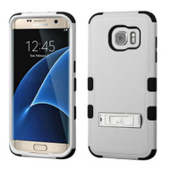 Military Grade Certified TUFF Hybrid Kickstand Case for Samsung Galaxy S7 Edge - Grey