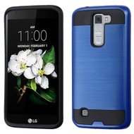 Brushed Hybrid Armor Case for LG K7 / Escape 3 / Treasure LTE / Tribute 5 - Navy Blue