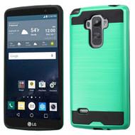 Brushed Hybrid Armor Case for LG G Stylo / Vista 2 - Green