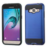 *SALE* Brushed Hybrid Armor Case for Samsung Galaxy Amp Prime / Express Prime / J3 / Sol - Navy Blue