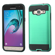 *SALE* Brushed Hybrid Armor Case for Samsung Galaxy Amp Prime / Express Prime / J3 / Sol - Green
