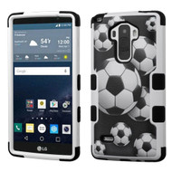 Military Grade Certified TUFF Image Hybrid Case for LG G Stylo / Vista 2 - Soccer Ball