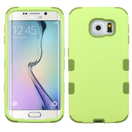 Military Grade Certified TUFF Hybrid Case for Samsung Galaxy S6 Edge - Green Tea Olive