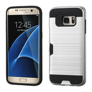 Card To Go Hybrid Case for Samsung Galaxy S7 Edge - Silver