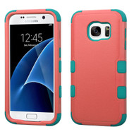 Military Grade Certified TUFF Hybrid Case for Samsung Galaxy S7 - Hot Pink Teal