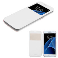 Book-Style Hybrid Case for Samsung Galaxy S7 - White