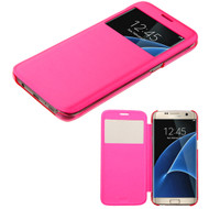 Book-Style Hybrid Case for Samsung Galaxy S7 Edge - Hot Pink