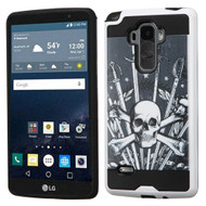 Brushed Graphic Hybrid Armor Case for LG G Stylo / Vista 2 - Sword and Skull