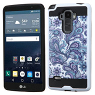 Brushed Graphic Hybrid Armor Case for LG G Stylo / Vista 2 - Persian Paisley
