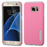 Pro Shield Hybrid Armor Case for Samsung Galaxy S7 Edge - Pink Grey