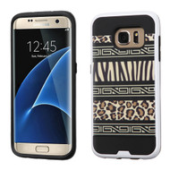 Brushed Graphic Hybrid Armor Case for Samsung Galaxy S7 Edge - Leopard Zebra