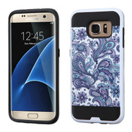 Brushed Graphic Hybrid Armor Case for Samsung Galaxy S7 Edge - Persian Paisley