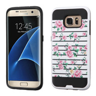 Brushed Graphic Hybrid Armor Case for Samsung Galaxy S7 Edge - Fresh Roses