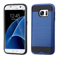 Brushed Hybrid Armor Case for Samsung Galaxy S7 - Navy Blue