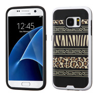 Brushed Graphic Hybrid Armor Case for Samsung Galaxy S7 - Leopard Zebra