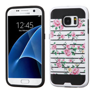 Brushed Graphic Hybrid Armor Case for Samsung Galaxy S7 - Fresh Roses