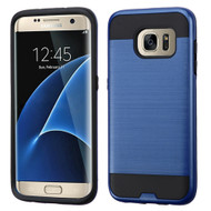 Brushed Hybrid Armor Case for Samsung Galaxy S7 Edge - Navy Blue