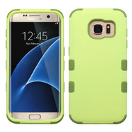 Military Grade TUFF Hybrid Case for Samsung Galaxy S7 Edge - Green Tea Olive