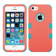 Military Grade Certified TUFF Hybrid Case for iPhone SE / 5S / 5 - Pink Teal