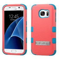 Military Grade Certified TUFF Hybrid Kickstand Case for Samsung Galaxy S7 - Pink Teal